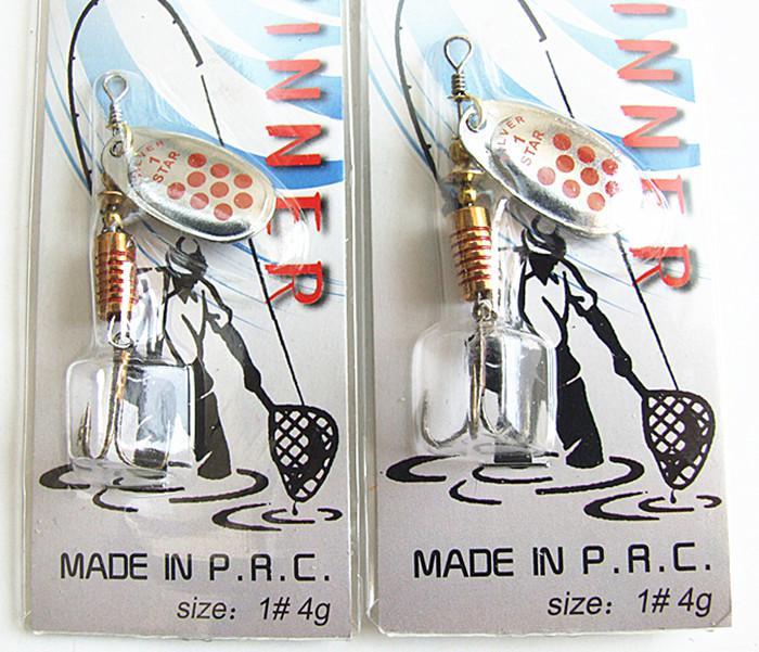 Spinner Bait Pêche Leurre Cuillère Leurre De Pêche S'attaquer 3-4g Métal Cuivre Appâts de haute qualité