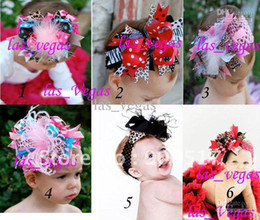 Wholesale Topknot Clip - Baby girls' Hair bows with hair band infant hair clips bow and headband baby hairbows new topknot hk