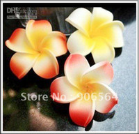 Wholesale Hawaiian Foam Flower Frangipani - Free shipping multiple Foam Hawaiian Plumeria flower Frangipani Flower ,be use for headpieces,earrin