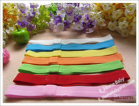 Wholesale Hairband Crochet Ribbon - 60pcs Sample 0.7inch Elastic Hair Headband Soft Kids Headwear Top Baby Hairband Crochet Hair Ribbon