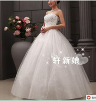 Wholesale E Lace Wedding Dresses - 287 2016 bridal gowns fashionab;e sexy heavy beadings sweetheart ball gown wedding dresses plus size vestido de noiva