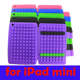 Wholesale Soft Gel Cover For Ipad - FREE DHL UPS Building Block Toy Silicon Soft Case Brick Full Body Gel Flip Cover for APPLE iPad MINI Factory Direct