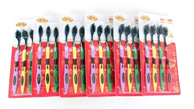 Adult Nano Toothbrush Bamboo Charcoal Dental Care Tooths ...