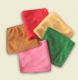 Wholesale Microfiber Baby Greens - wash towels 100ps 30*30CM Soft Microfiber Bath Beach Towel Microfibre Towels Absorbent Cloths Drying Cloth