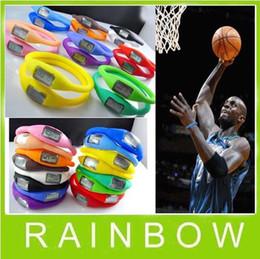 Wholesale Anion Waterproof Watch - 100pcs lot Free Shipping -- Anion Sports Wrist Bracelet Silicon Unisex Watch Waterproof