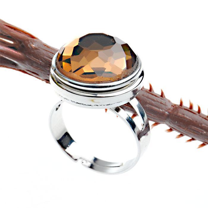 Anel instantâneo intercambiável ajustável de Diy Noosa ródio chapeado anel somente