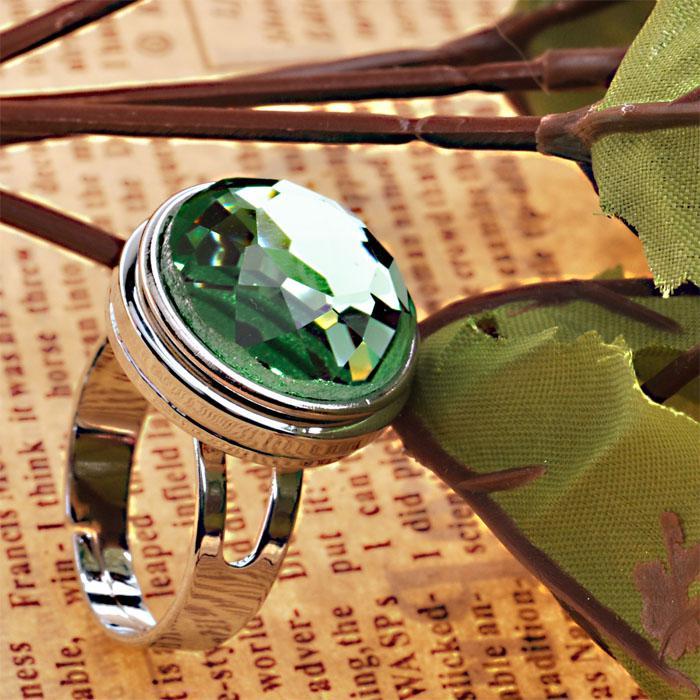 Anello intercambiabile regolabile fai-da-te di Noosa con anello in rodio placcato rodio solo anello