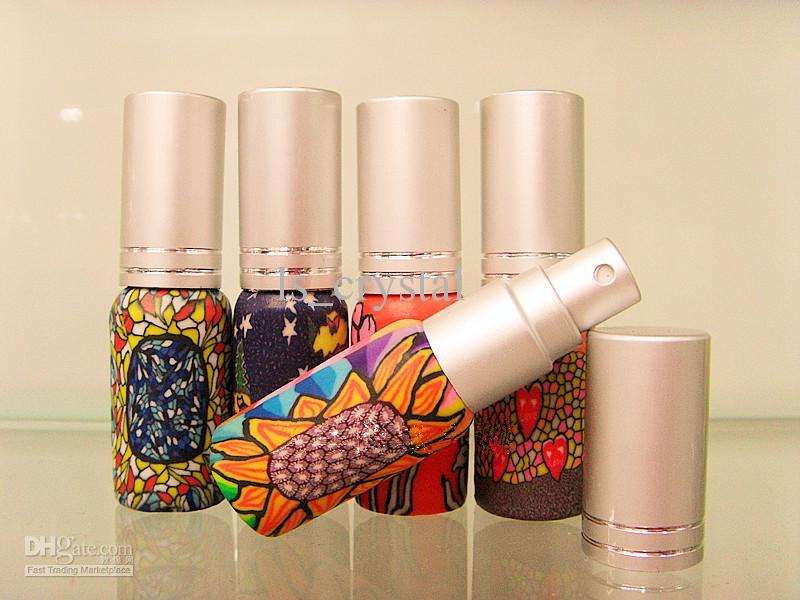 6ml Mini Mini Etomizador de perfume vacío Pocket Retellable Fragancia Botellas con perfumado Vidrio Aceite Esencial Viales Pulverizador Botella Promoción /