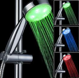 Wholesale Shower Head Sprinkler - Bathroom Sprinkler Temperature Sensor LED Shower Head Automatic Color Control RGB Water Glow