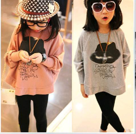 Children T Shirts Girls Fashion Bat Sleeve Tops Kids ...