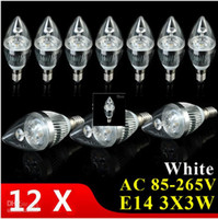 Wholesale Natural Led Candle - 5x Bulbs promotional 220v110vE14 E12 E27 3X3W 9W warm white   cool white   natural white LED Candle Light