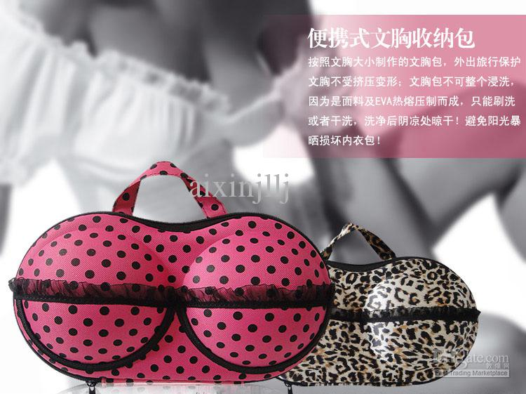 Creative Portable Travel Underwear Pouch Pressure Proof Stereotypes Bra  Storage Bags