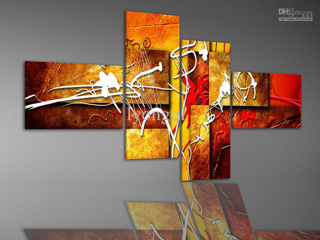 Hand painted hi q abstract oil painting on canvas bright for Where can i sell paintings online