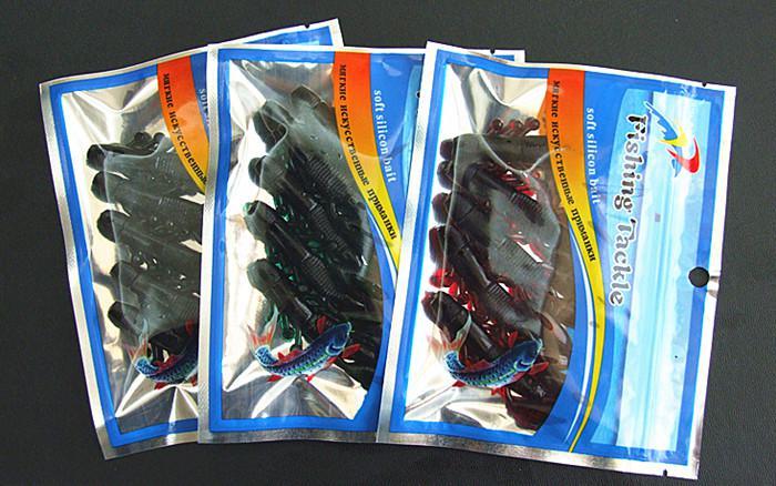 7cm 5.5g Zachte aas vis lokt visgerei unieke vorm ontwerp voor zout en zoet water aas