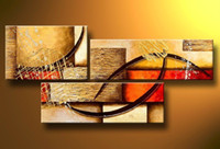 Wholesale Canvas Oil Paintings Texture - Hand-painted Hi-Q modern abstract decorative oil-painting on canvas--random texture 3pcs set framed