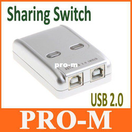 Wholesale Printers Free Shipping - USB 2.0 Sharing Switch Hub 2 PC to 1 Printer Scanner Newrok Switcher, Free Shipping