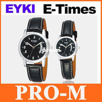 Wholesale Eyki E - EYKI E-Times Leather Wrist Quartz Lover's Watch Male black Freeshipping Dropshipping