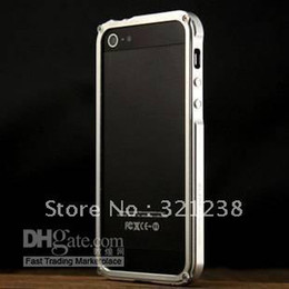 Wholesale Aluminum Blade Bumper Frame Case - BLADE T.D Design Aluminum metal Bumper Frame case cover skin for iPhone 5 5g with Retail Package Fre
