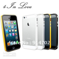 Wholesale Sgp For Iphone5 - 4 In Love high quality SGP NEO EX bumper case for iphone5, Beautiful color box package, Free shippin