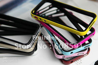 Wholesale Sgp Neo Hybrid Iphone 4s - Free shipping SGP NEO Hybrid EX For iPhone 4 4G 4s , SGP Bumper case for Iphone4 cover twin case for