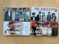 Wholesale Hard Case Iphone One Direction - One Direction band 1D hard white case cover for iphone 4 4G 4S +free shipping