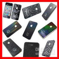 Wholesale Iphone 4s Front Screen Protectors - 3D Series Screen Guard film for iphone 4 4S 3D Diamond screen Protector, front+Back with retail pack