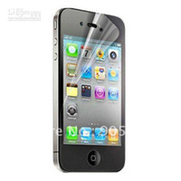 Wholesale Iphone 4s Clear Screen Protector - 100pcs lot,Front&Back Clear screen protector for iphone 4 4S Without retail package