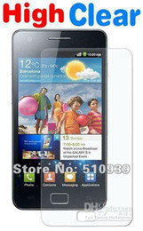 Wholesale Sii Cover - HD Clear Screen Protector For Samsung Galaxy S2 SII I9100 S 2 Front Film LCD Glossy Cover Skin Guard