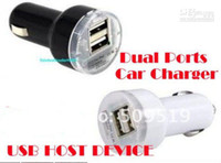 China correios 2pcs Novo Dual 2 Portas USB Car Charger 12V DC para iPad iPhone 4G i 2A HTC + Free shi