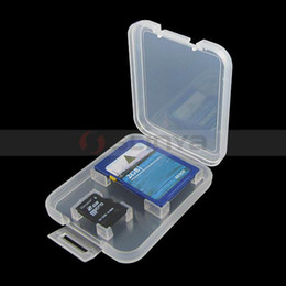 2019 memoria flash usb de memoria de 128 gb 1000 unids / lote Duro Transparente Plástico Micro SD TF Caja de Tarjeta Micro SD Tarjeta Protector Box