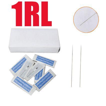 Maquillaje permanente de alta calidad y durable 500x1RL Agujas de cejas de maquillaje esterilizadas para la máquina de la pluma de tamaño redondo CN-1