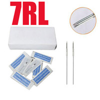 Wholesale Tattoo Needle Cn - Great Quality 500x7RL Tattoo Makeup Needles Sterilized Round 7 Size Kit Supply For Eyebrow & Lip CN-1