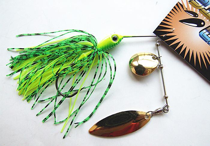 Приманки для жужжания Spinner Bait Lead Head Силиконовые юбки Рыболовные приманки 1/4 или 3/8 унции, смешанные