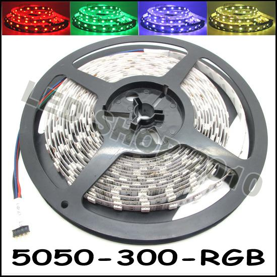 5M Flexible RGB LED Light Strip 16FT 5050 SMD 5M 300 LEDs with 44key IR REMOTE Controller