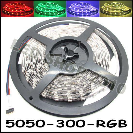 5M مرنة RGB LED قطاع الخفيفة 16FT 5050 SMD 5M 300 المصابيح مع 44key IR عن بعد وحدة تحكم