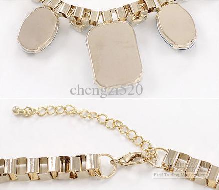 アクリル宝石のネックレスレトロな金属のネックレス豪華なボヘミアン