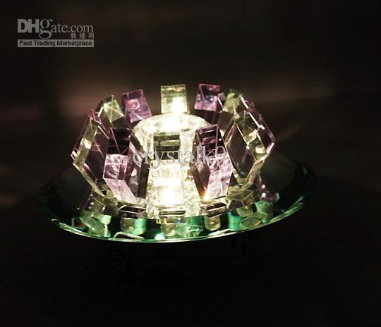 Minimalista moderno Rosa Roxo Marrom Escuro K9 Cristal LEVOU Lâmpada Do Teto Lustre de Luz Diâmetro 18 cm