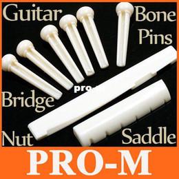 Wholesale Bone Guitar Bridge Pins - A Set of Folk Guitar Bone Bridge Pins Saddle Nut,Black and White Color,10pcs lot,I78,Free shipping