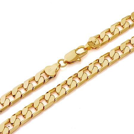 free shipping Splendid men 14k yellow gold necklace solid chain 23.6inch 100% real gold, not solid not money.