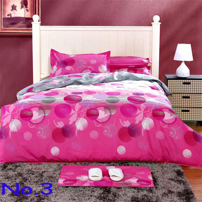 Pink 100% Cotton Printed Soften Bedding Set Creative Quilt Cover ... : hot pink quilt queen - Adamdwight.com