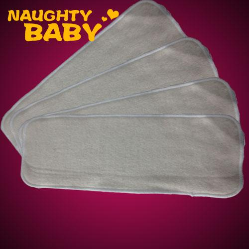 best selling 50 pcs 4 layers are all Washable Hemp Organic Cotton Insert Baby Cloth Diaper Nappy Inserts