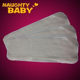 $enCountryForm.capitalKeyWord Canada - Free shipping 200 pcs 4 layers Washable Hemp Organic Cotton Insert Baby Cloth Diaper Nappy Inserts