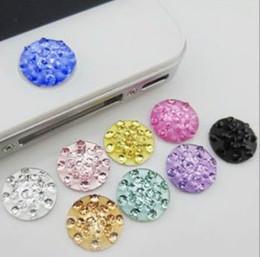 $enCountryForm.capitalKeyWord Australia - FreeShip 100pcs Sparkling Bling Crystal Home Button Sticker for Cell Phone iPhone 5 4 4S Xmas Gift