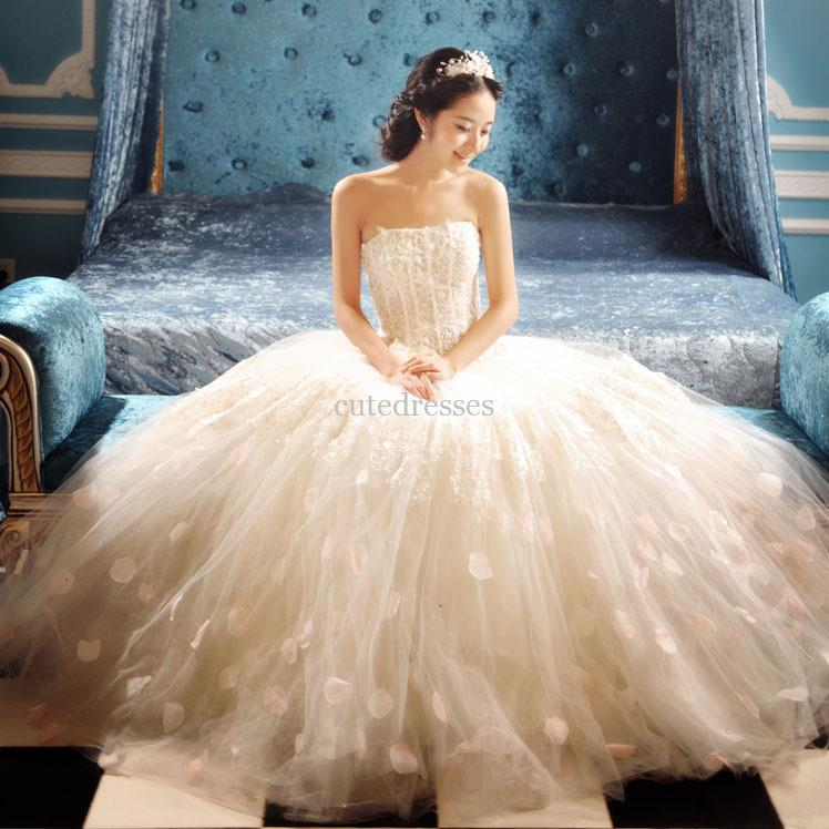 New Arrival Tube Top Fluffy Wedding Dress Modern Dresses Tea Length From Cutedresses 8794