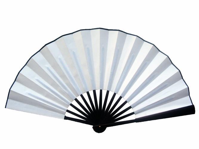 DIY grote hand gehouden fan wit goud rood zwart zijden vouwen stof fan fine art schilderij heren bruiloftsprogramma Chinese fan cadeau 10 stks