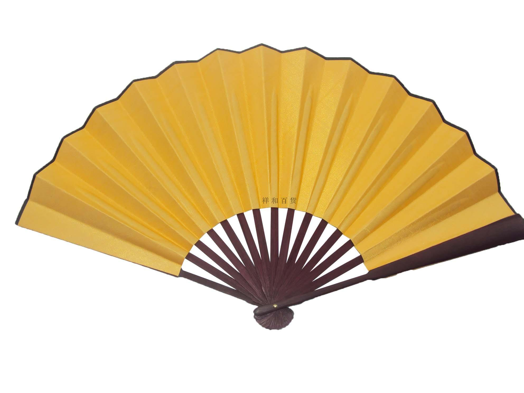 Large Plain DIY Hand Fan Chinese Folding Fans 10 Inch Silk Fan Fine ...