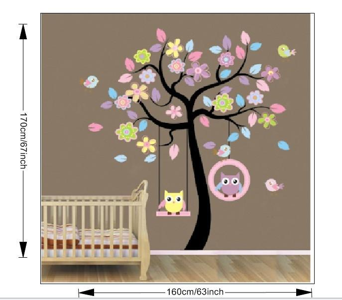 Ordinaire Diy Owl Tree Swing Removable Vinyl Wall Sticker Decal Kid Room Art  Home Decor 78ab