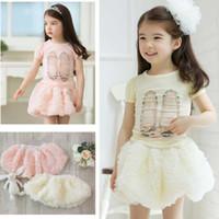 Wholesale Children Wearing Mini Skirts - Lantern Skirts Children Wear Mini Skirt Girls Cute Rose Flower Short Skirts Fashion Princess Skirt
