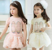 Wholesale girls princess tee shirts - Girls Short Sleeve T Shirt Fashion Cute Bowknot T Shirts Tee Shirt Summer Casual Princess Shirts