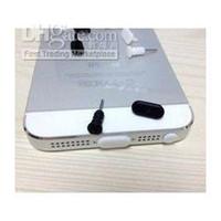 Wholesale Dust Plug Socket - Dock Cover for iPhone 5 5G dust plug 100pcs earphone jack plug+ 100pcs charger socket=total 200pcs f